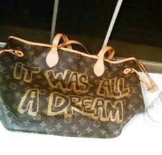 THE JUICY  It Was All A Dream Spray Painted by RefinedYetRugged, $150.00