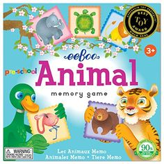 eeBoo Preschool Animal Memory Matching Game -- For more information, visit image link. Note:It is Affiliate Link to Amazon. #cali