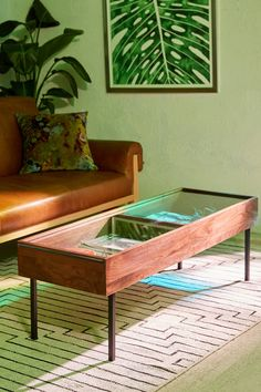 Slide View: 1: Shadowbox Coffee Table