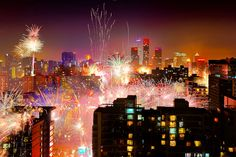 fireworks in Chinese New Year