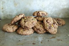 Pistachio, Chocolate and Espresso Cookies