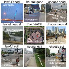 Pedestrian Infrastructure Alignment Chart | streets.mn