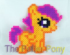 My Little Pony Silly Filly Perler Ponies: Scootaloo