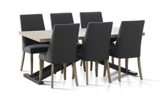 Bari 7 Piece Dining Table and Chairs (1800mm)| Focus on Furniture