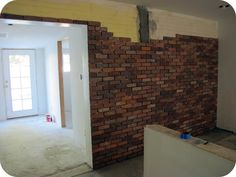 Kitchen Makeover: How To Lay a Brick Wall - Dream Book Design