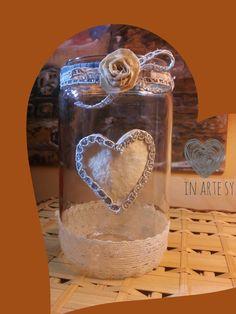 handmade❤Flower vase ❤ Vaso per fiori decorato a mano ♡ In Arte Sy