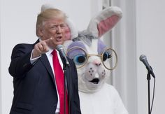 Image result for trump and easter bunny