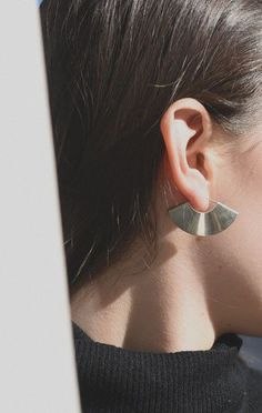 kathleen whitaker small fan earrings | anaise.
