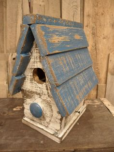 Primitive Bird House, Antique Style Bird House, Functional Bird House, French…