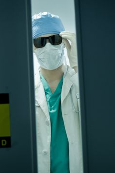 Tom Hiddleston as Adam, being Doctor Faust for a blood pick - up, in Only Lovers Left Alive