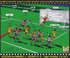 LIGA BBVA 2014-15 - Atlético de Madrid, 2 - Getafe CF, 0 - Tiago Cardoso, 2-0 (44') www.moviolagol.com