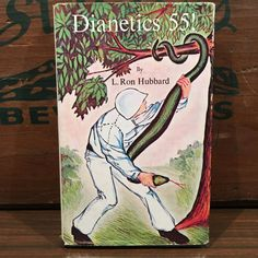 Dianetics 55! by L. Ron Hubbard Vintage Hardcover Book with Dust Jacket 1976 Church of Scientology by vintagebaron on Etsy