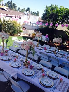 My sister\'s baby shower! Table setting | Party Ideas | Pinterest ...