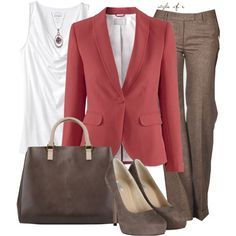 """Red Blazer"" by styleofe on Polyvore"