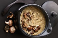 This creamy risotto comes to perfection with the addition of earthy mushrooms and flavorful pecorino