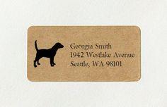 Custom Return Address Labels  Beagle Dog Address by packagery
