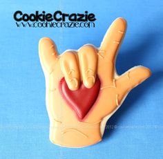 CookieCrazie: Random Cookie Shapes....I Love You in Sign Language