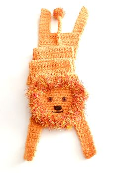 Lion scarf, animal scarf, orange neckwarmer, crochet shawl, for kids, for animal lovers, winter gift, African animal  Soft lion — very funny and calm :-) Crocheted of orange yarn, with button eyes and embroidered mouth. Perfect accessory for winter walking!   Length with paws: 48.4 (123 cm), without head, paws and tail (only body): 38 (96 cm) Width (not stretched, double sewed scarf): 4.7 (12 cm)  Made in a smoke free house.  Ready to ship.   Please check dimensions carefully. Due to…