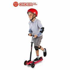 Yvolution Y Glider XL Scooter, Red/Black