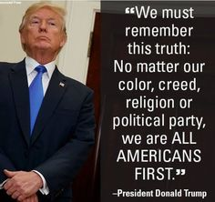 AMERICANS FIRST..Is that a code for white supremacy?
