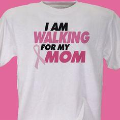 9165f523 Personalized Breast Cancer Walk- Breast Cancer Awareness T-Shirt Breast  Cancer Walk, Breast