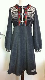 Kjoler og Sånt: Gamle gensere blir som ny Reuse Clothes, Sewing Clothes, Diy Fashion, Fashion Outfits, Womens Fashion, Jeans Fashion, Sweater Skirt, Textiles, Dress Skirt