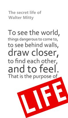 One of the most inspiring movies I've watched recently. The secret life of #waltermitty