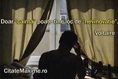 """""""Doar """"cainta"""" poate tine loc de """"nevinovatie""""."""" #CitatImagine de Voltaire Iti…"""