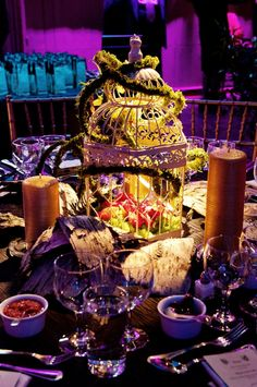 beautiful centerpiece : enchanted forest