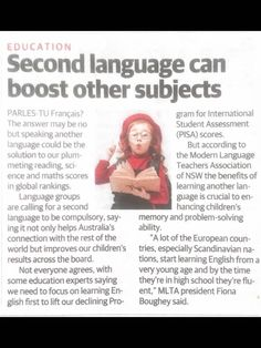 Compulsory ML Australia Teacher Association, Second Language, Research Paper, Assessment, Promotion, Student, Australia, Education, Math