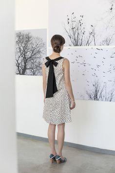 Hey, I found this really awesome Etsy listing at https://www.etsy.com/listing/197408711/polka-dot-dress-elegant-evening-dress