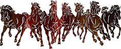 "Horses Metal Wall Art Western Equestrian Horse  40"" !!!"