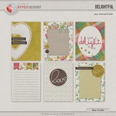 Free Delightful Journal Cards from Designs by Kimbroedelet