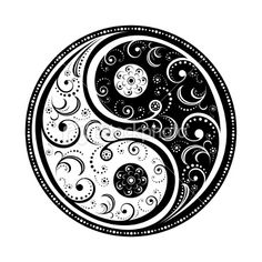 another cool yin yang -great LOVE this! yin yang is backwards (white on top arching to the right, not left) Great Tattoos, Trendy Tattoos, New Tattoos, I Tattoo, Tattoos For Guys, Ankle Tattoo, Tattoo Flash, Tattoo Thigh, Tattoo Maori