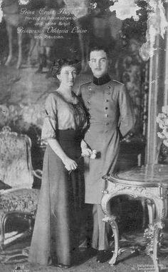 Princess Viktoria Luise of Prussia and Prince Ernst August of Hanover,Duke and Duchess of Brunswick.A♥W