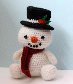 amigurumi crochet snowman