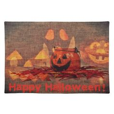 Happy Halloween pumpkin party supplies Place Mats