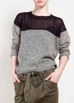 Isabel Marant  slouchy sweater, color placement