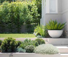 moderne pflanzk bel aus beton auf der terrasse im vorgarten outdoor garten terrasse. Black Bedroom Furniture Sets. Home Design Ideas