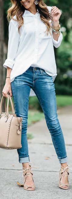 White Over-Sized Chambray
