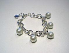 Snö of Sweden armband Julia Pearl Earrings, Charmed, Pearls, Jewelry, Wristlets, Pearl Studs, Jewlery, Jewerly, Beads