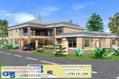 Bungalow House Design, Modern House Design, Double Story House, African House, My Dream Home, Dream Homes, Site Plans, Garage Plans, House Floor Plans
