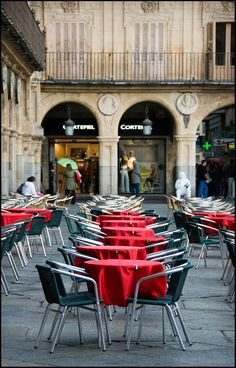Seeing Red - Plaza Mayor in Salamanca, Spain
