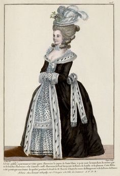 1781 French Fashion Plate - Style: Levite