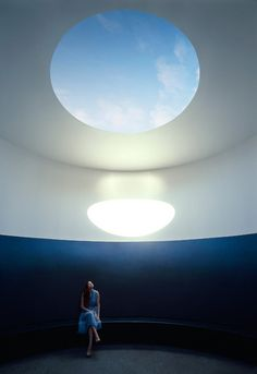 Light and atmosphere. I really like how James Turrell has created this large atmostpheric circle of light, i would really like to do something similar.