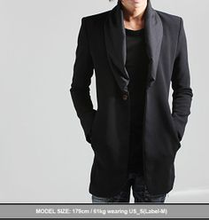 Outerwear :: Coats :: ★SOLD-OUT★ Luxurious Muffler Attached Coat - New and Stylish - Fast Mens Fashion - Mens Clothing - Product