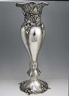 American Sterling Art Nouveau Vase