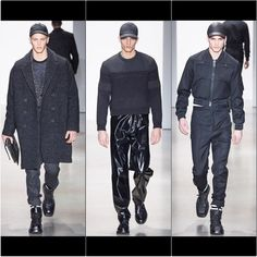 My favorite looks of my favorite show so far this season. #chic #simple #monochromatic #calvinklein #menswear #menstyle #fall2015