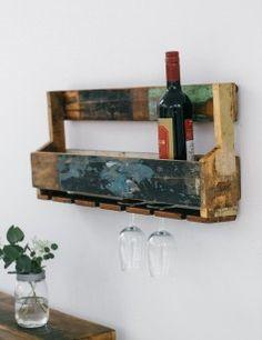 Reclaimed Hanging Wine Rack lifestyle