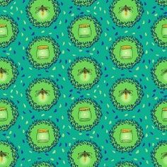 Wee Wander - Glow Friends(Green) - Sarah Jane - Michael Miller Fabrics